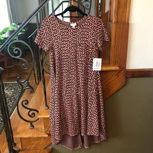 NWT Lularoe Carly Geometric Pattern Dress XXS